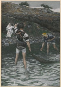 The Calling of Saint Peter and Saint Andrew, by James Tissot [Public domain], via Wikimedia Commons