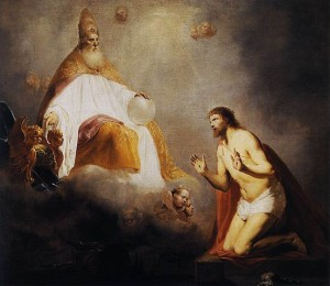 God Inviting Christ to Sit on the Throne at His Right Hand, by Pieter de Grebber